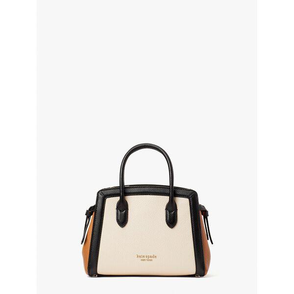 knott colorblocked mini satchel, milk glass multi, hi-res