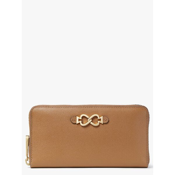 toujours zip-around continental wallet, WARM GINGERBREAD, hi-res