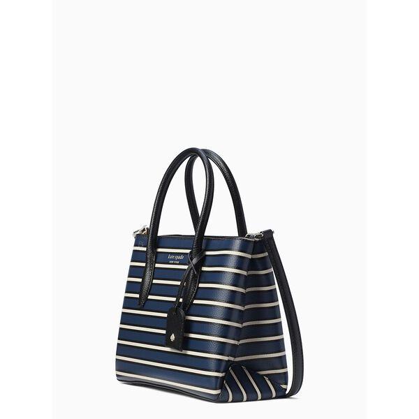 eva stripe small top zip satchel, blue multi, hi-res