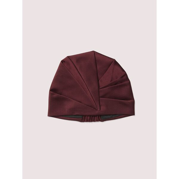 deep fig satin hat