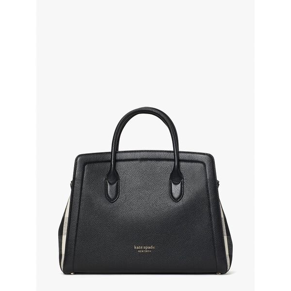 knott gingham large satchel