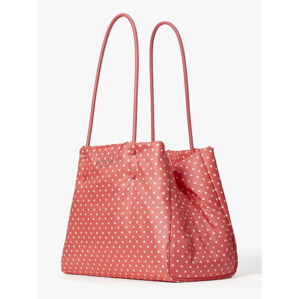 everything puffy dots large tote, peach melba multi, hi-res