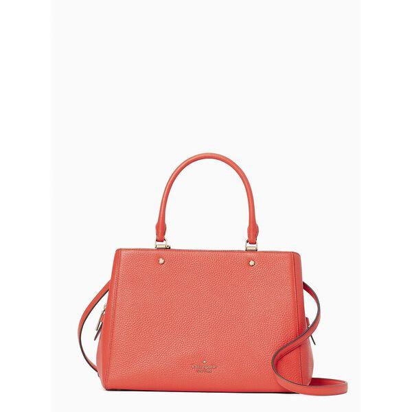 leila med trpl compt satchel, geranium, hi-res