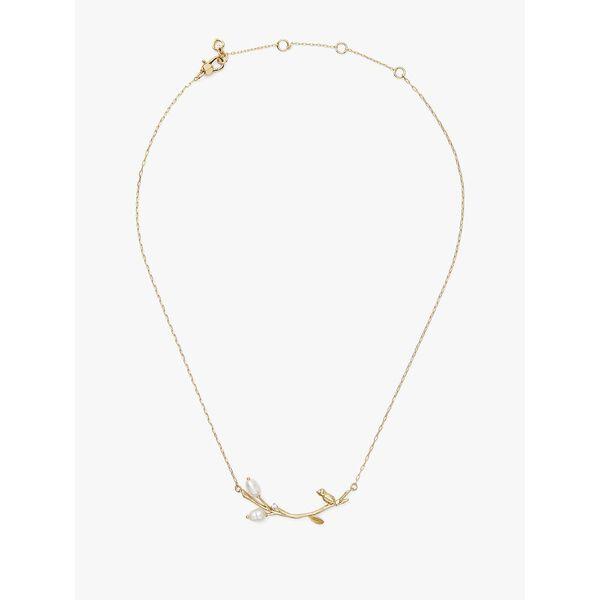 brilliant branches necklace, CREAM/GOLD, hi-res