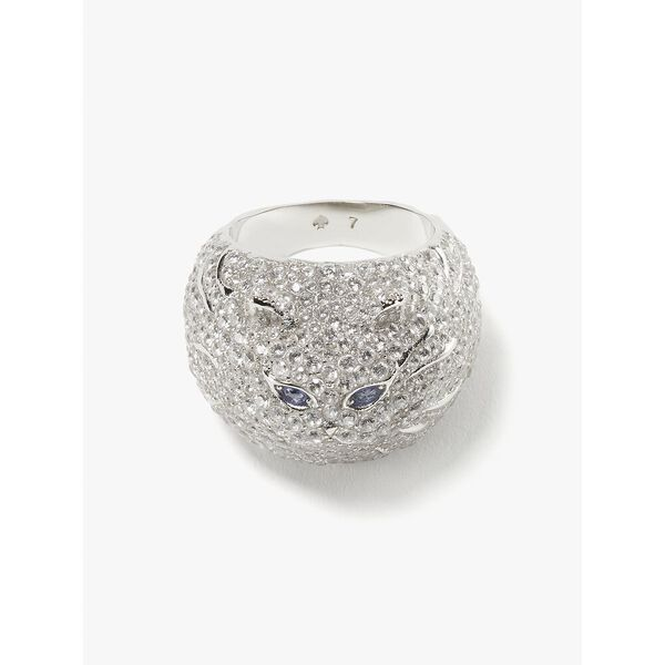 pretty kitty pavé ring