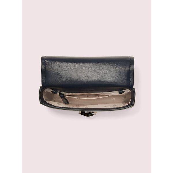 amelia shimmer twistlock small convertible chain shoulder bag, blazer blue, hi-res