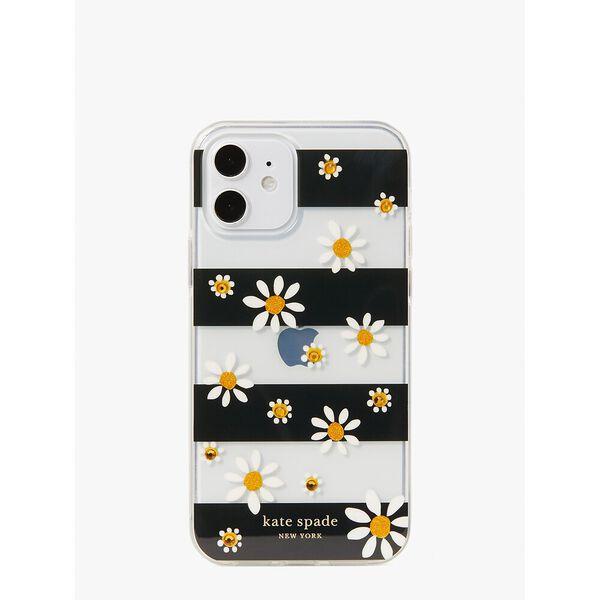 jeweled daisy dot iphone 12/12 pro case, multi, hi-res