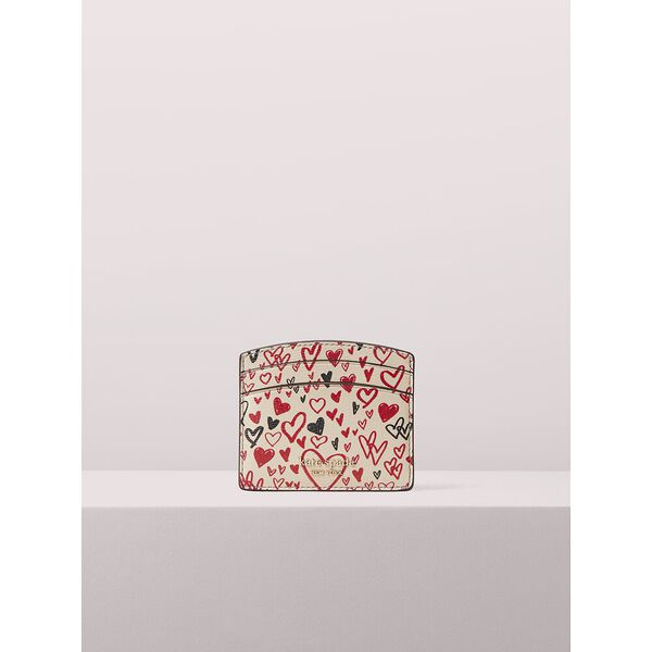 spencer heart scribbles cardholder