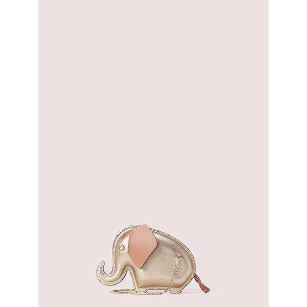 tiny elephant crossbody, pink champagne, hi-res