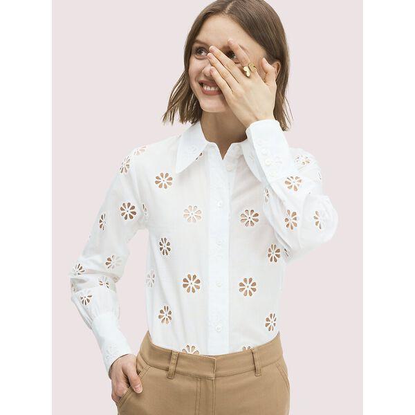 spade clover eyelet blouse
