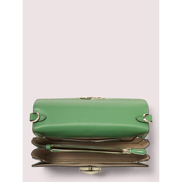 nicola twistlock medium sling bag, GREEN BEAN, hi-res