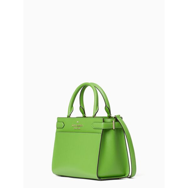 staci small satchel, turaco green, hi-res