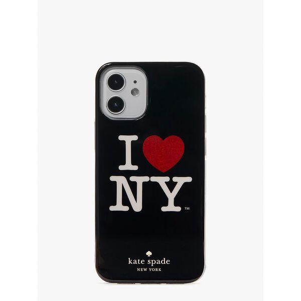i heart ny x kate spade new york iphone 12 mini case, black, hi-res