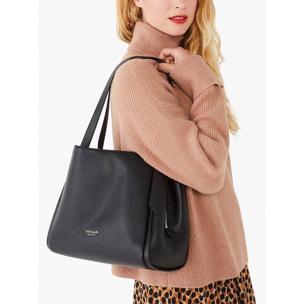 knott large shoulder bag, black, hi-res