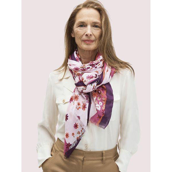 bora flora oblong scarf, ROCK CANDY, hi-res