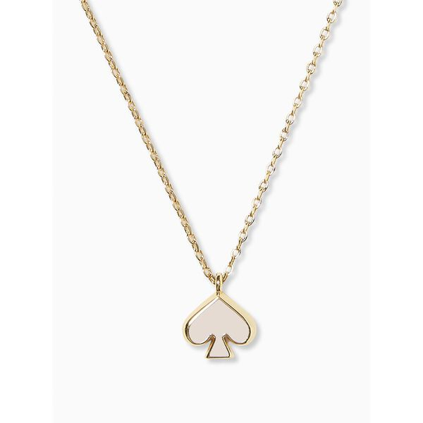 everyday spade enamel mini pendant, chalk pink, hi-res