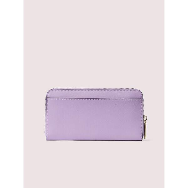 spencer zip-around continental wallet, iris bloom, hi-res