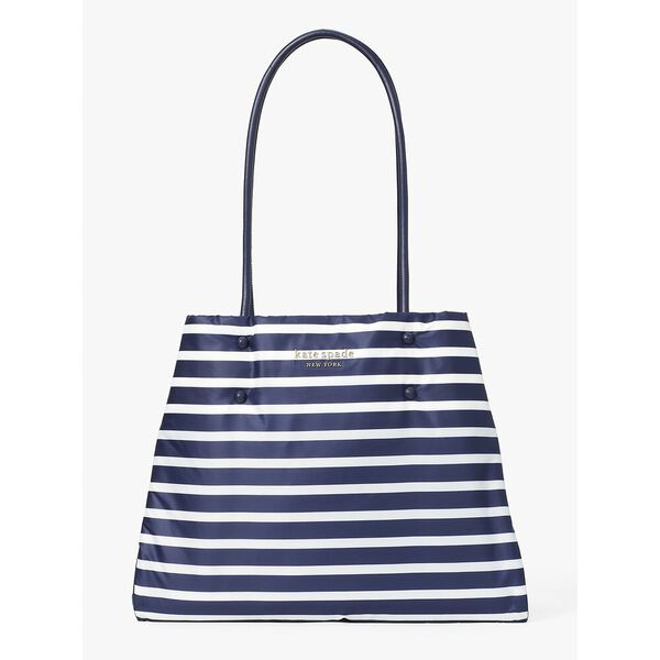 everything puffy sailing stripe large tote