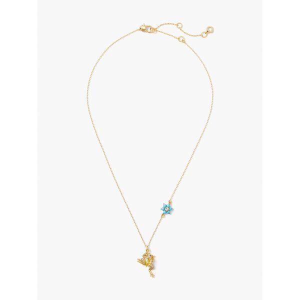 nature walk frog pendant, blue multi, hi-res