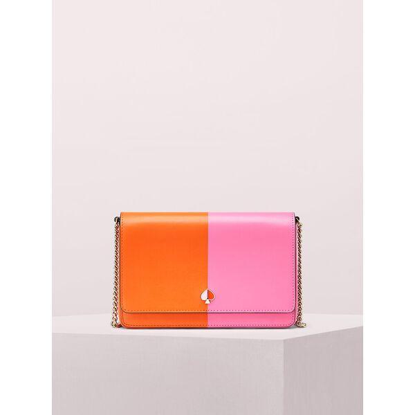 nicola bicolor chain wallet
