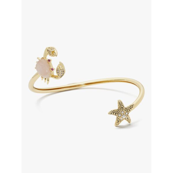 sea star crab & starfish flex cuff, pink, hi-res