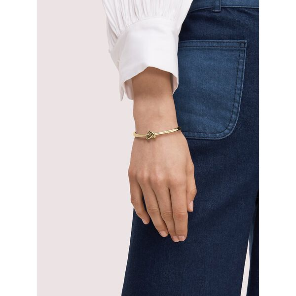 loves me knot bangle, GOLD, hi-res