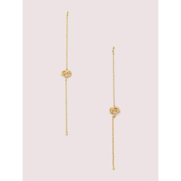 loves me knot pavé linear earrings