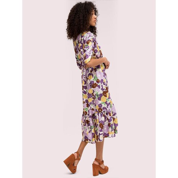 swing flora jacquard dress, dark cream, hi-res