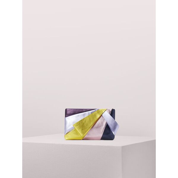 stevie metallic small evening clutch
