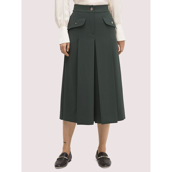 pleated culotte pant, Spring Meadow, hi-res
