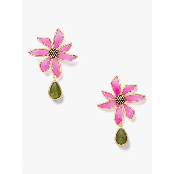 wild garden drop earrings, pink multi, hi-res
