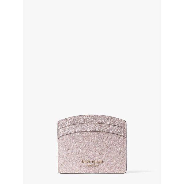 spencer glitter cardholder, rose gold, hi-res