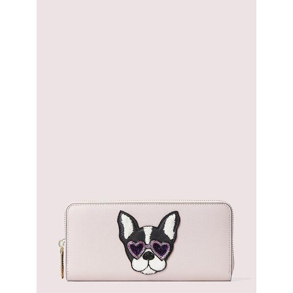 sylvia francois slim continental wallet, yucatan pink/dolce, hi-res