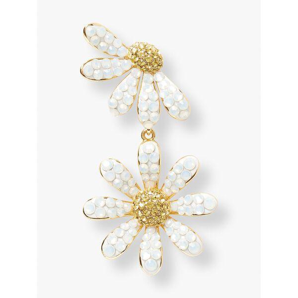 dazzling daisy drop earrings, opal, hi-res