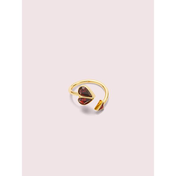 rock solid stone heart twist ring, ruby/gold, hi-res