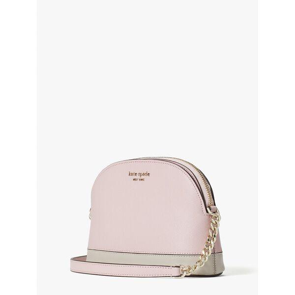 spencer small dome crossbody, tutu pink/crisp linen, hi-res