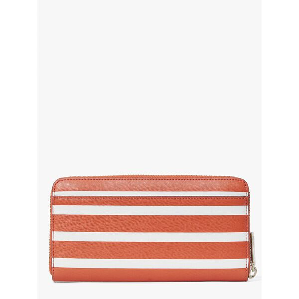 spencer stripe zip-around continental wallet, tamarillo multi, hi-res