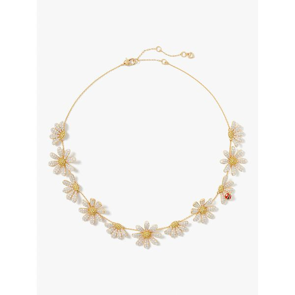 dazzling daisy statement necklace, opal, hi-res