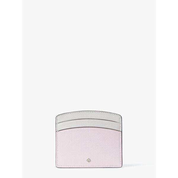 spencer cardholder, tutu pink/crisp linen, hi-res