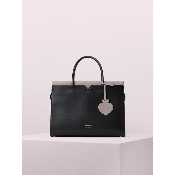 spencer large satchel, black, hi-res