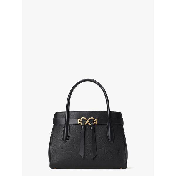toujour medium satchel, black, hi-res