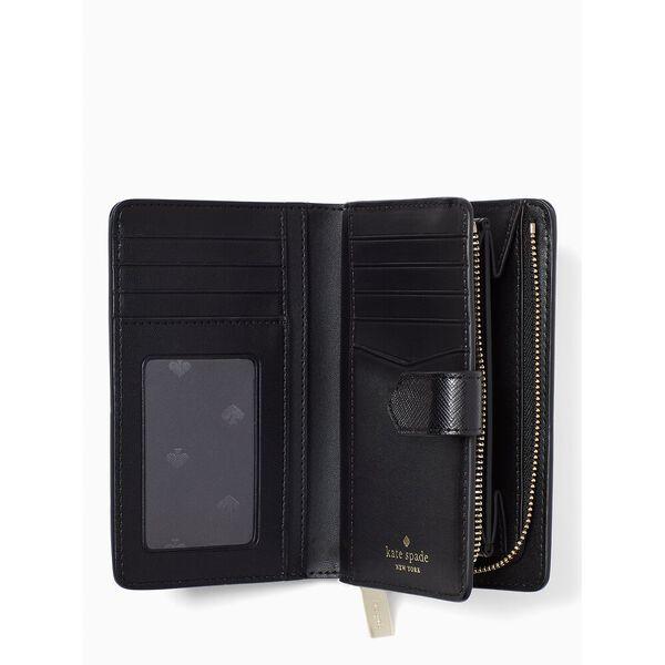 staci medium compact bifold wallet, black multi, hi-res