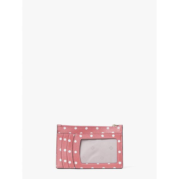 spencer dots cardholder wristlet, peach melba multi, hi-res