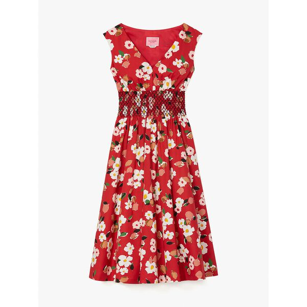 botanical garden poplin dress, lava falls, hi-res