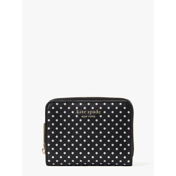 spencer metallic dot small compact wallet, black multi, hi-res