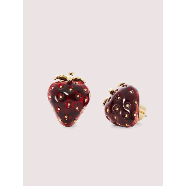 tutti fruity strawberry studs, RED, hi-res