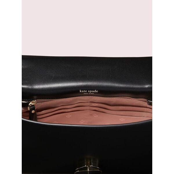 amelia velvet medium convertible chain shoulder bag, black, hi-res
