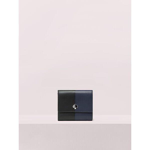 nicola bicolor bifold flap wallet
